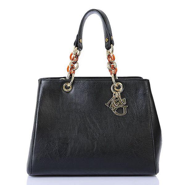 Dámská černá kabelka se zipovým zapínáním Giorgio di Mare