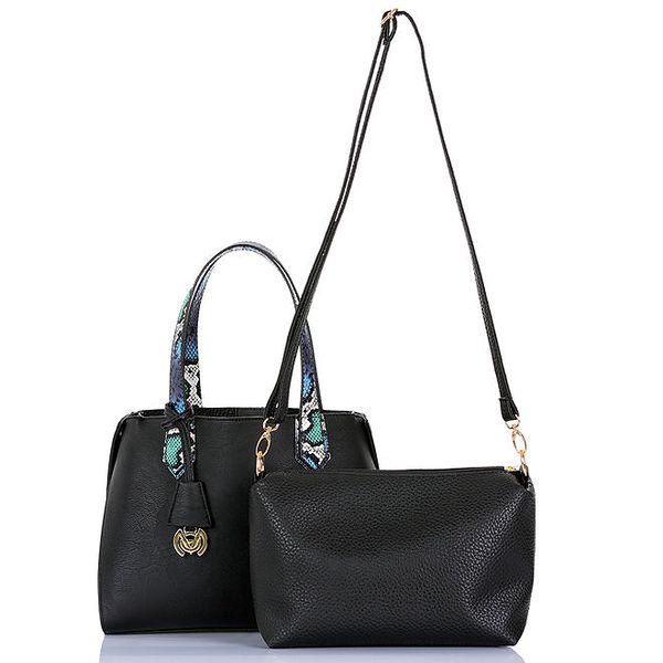 Dámská černá kabelka s vyjímatelnou taštičkou Giorgio di Mare