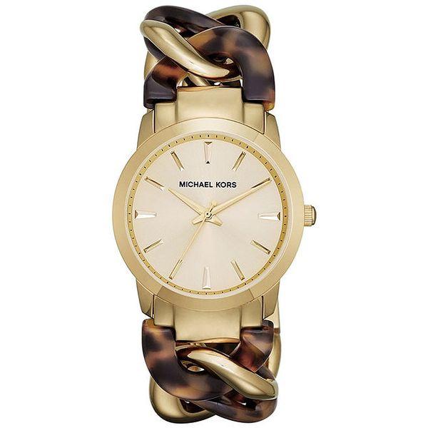 Dámské hodinky s originálním dvoubarevným řemínkem Michael Kors