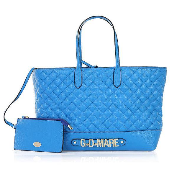 Dámská modrá prošívaná kabelka s odepínací kapsičkou Giorgio di Mare