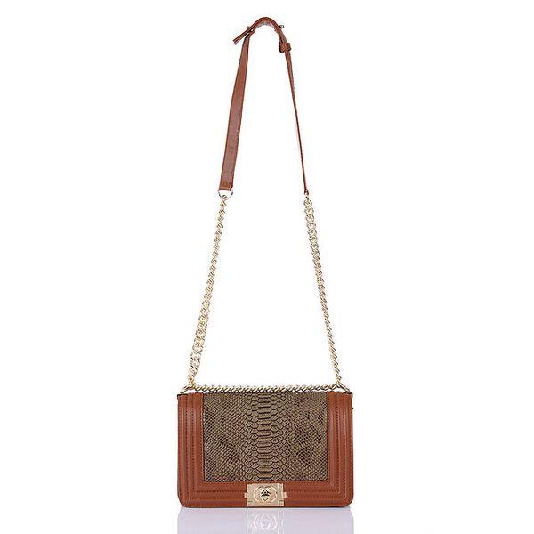 Dámská vzorovaná kabelka s řetízkovým popruhem Giorgio di Mare