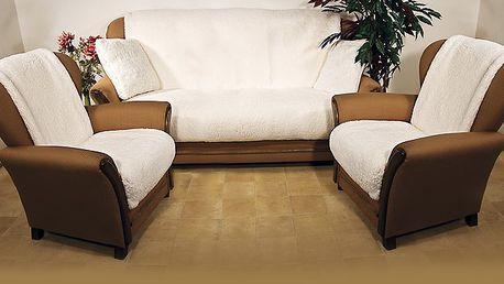 Přehozy na sedací soupravu Beránek