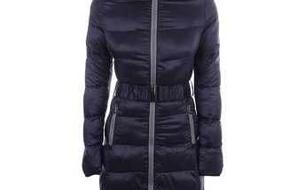 Dámský prošívaný tmavě modrý kabát B.style