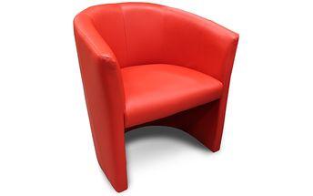 Moderní křeslo ASPOL Cube (červená)