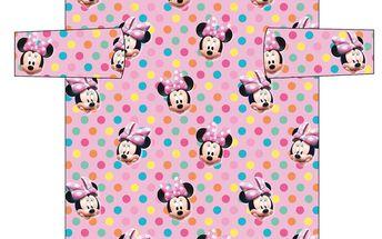 Dívčí fleecová deka s rukávy (60x120cm)- Minnie