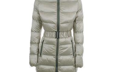 Dámský prošívaný béžový kabát B.style