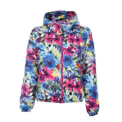 Dámská barevná bunda s květinami Minority