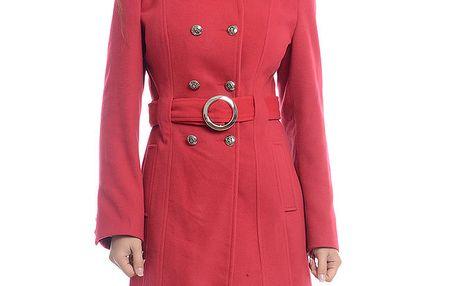 Dámský červený dvouřadý kabát Oriana