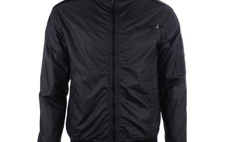 Pánská černá bunda s límcem Joluvi