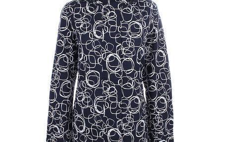 Dámská modrá vzorovaná bunda do deště Happy Rainy Days