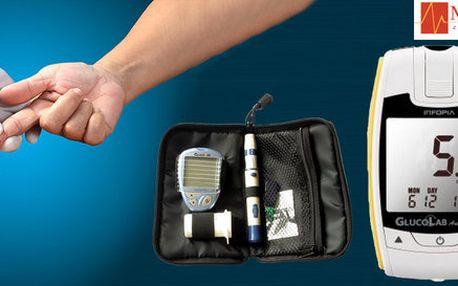 Glukometr GlucoLab včetně testovacích proužků