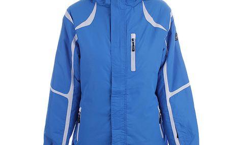 Dámská modrá zimní bunda s bílými prvky Joluvi