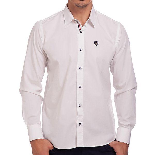Pánská bavlněné košile Galvanni - bílá