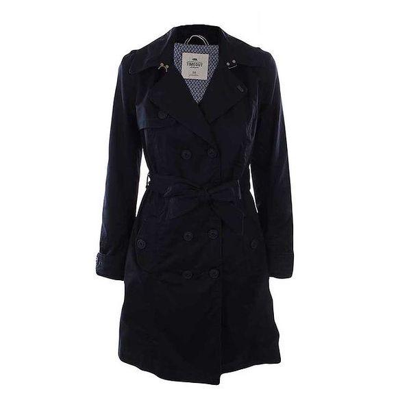 Dámský tmavě modrý kabát Timeout