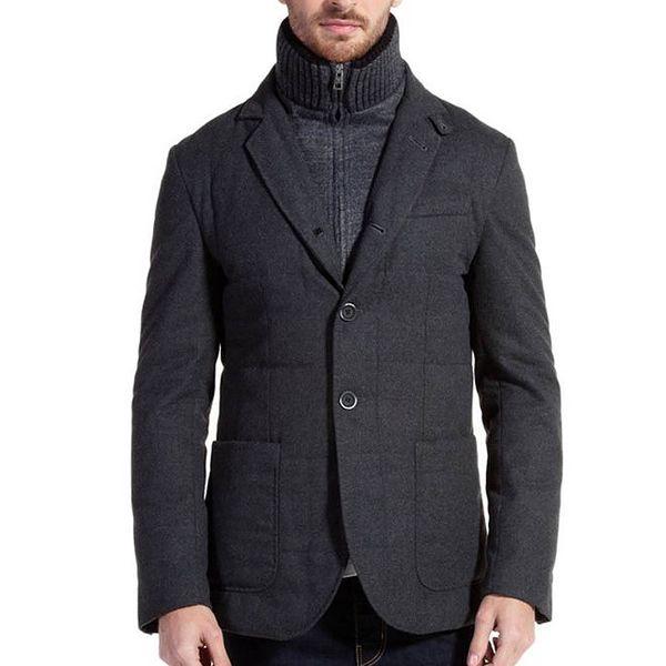 Pánský šedý kabátek Galvanni