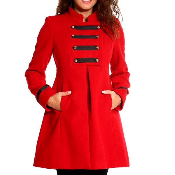 Dámský červený vojenský kabátek Vera Ravena