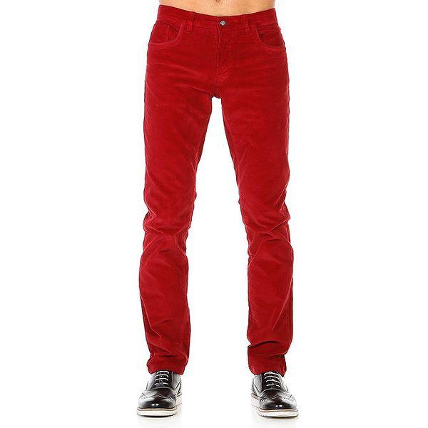 Pánské červené kalhoty Galvanni