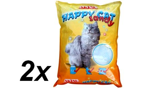 Akinu stelivo HAPPY CAT 2 x 7,2 l Sandy
