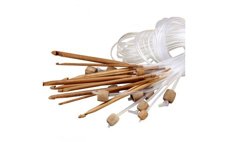 Bambusové háčky na tuniské háčkování - balení 12 ks a poštovné ZDARMA! - 9999903046