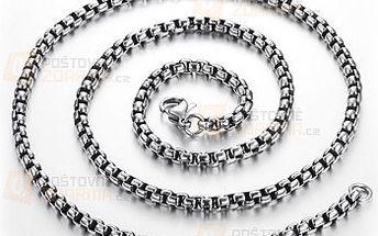 Pánský řetěz na krk ve stříbrné barvě a poštovné ZDARMA! - 9999916206