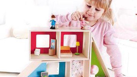 Geometrický domeček s nábytkem