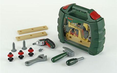 Pracovní kufřík s nářadím a akušroubovákem