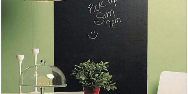 Samolepící křídová tabule na zeď 45 x 200 cm!