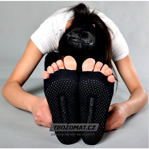 Protiskluzové bezprstové ponožky na jógu!