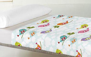 Kouzelné prostěradlo a povlak na polštář Little Birds 100x140 cm
