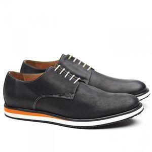 Pánské černé polobotky Shoe the Bear s oranžovými detaily