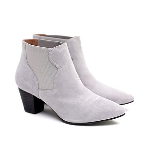 Dámské šedé kotníčkové boty na podpatku Shoe the Bear