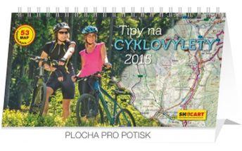 Tipy na cyklovýlety, kalendář 2015, 30 x 16 cm