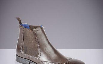 Pánské kotníkové boty s dekorativní perforací Route21
