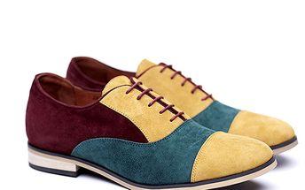 Dámské trojbarevné semišové polobotky Shoe the Bear