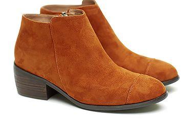Dámské karamelové semišové kotníčkové boty Shoe the Bear