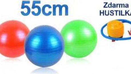 Gymnastický míč 55 cm + hustilka