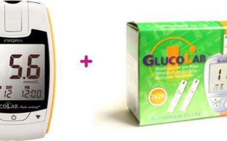 GlucoLab 50 test.proužků + Glukometr GlucoLab zdarma