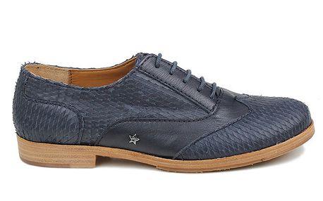 Dámské modré polobotky Cubanas Shoes