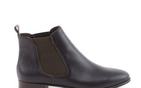 Dámské tmavě hnědé kotníčkové boty Liberitae
