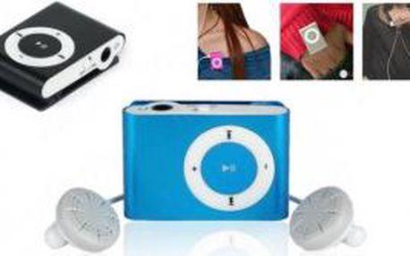 Mini MP3 přehrávač s klipsem