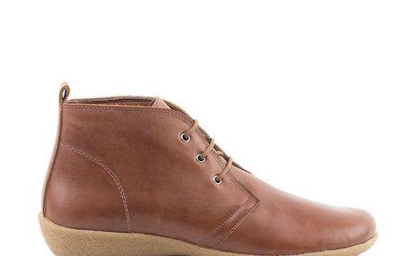 Dámské hnědé kotníkové boty s flexibilní podrážkou Liberitae