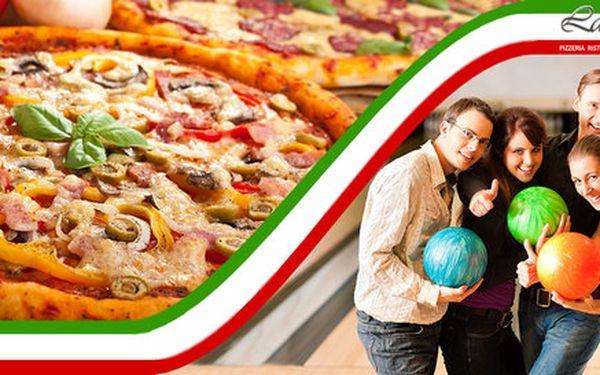 Dvě skvělé pizzy + hodina bowlingu v Karviné
