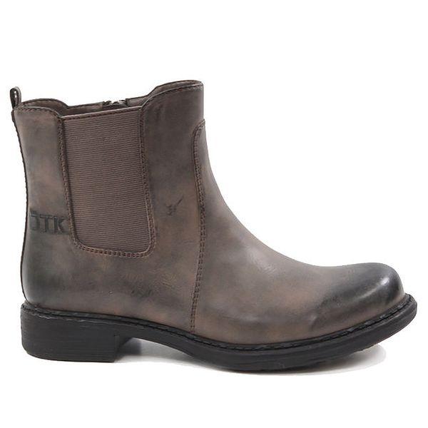 Dámské hnědé kotníkové boty Drastik