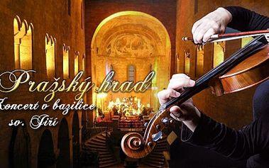 Krásný a romantický koncert v bazilice sv. Jiří na Pražském hradě! Hudba pražského hradu! Exklusivní místa!