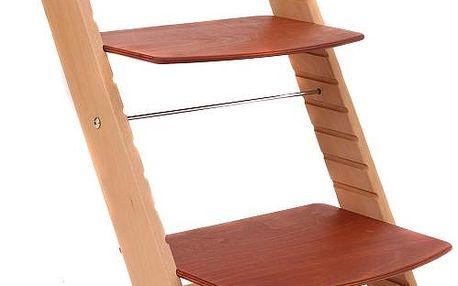 Rostoucí židle MONY natur lak - třešeň
