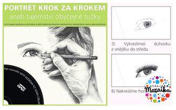 """KNIHA a DVD """"Portrét krok za krokem aneb tajemství obyčejné tužky"""". Naučte se krásně kreslit doma."""