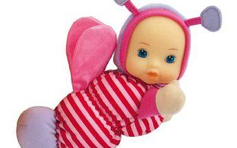 Krásná panenka v originálním růžovém oblečku Bino 88409 - Světluška