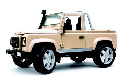 Model Auto LAND ROVER PICK UP bílé