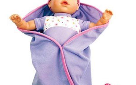 Mluvící panenka v peřince Bino 88402 - fialová