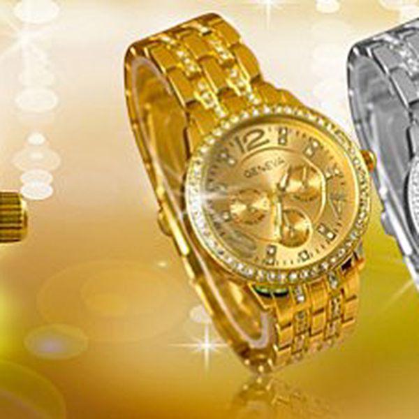 Dámské hodinky Geneva s krystaly: nepostradatelné pro moderní ženu!